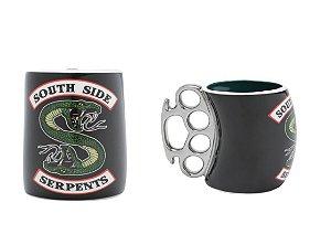 Caneca Porcelana Soco Inglês Riverdale Serpents 380ml Urban