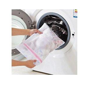 Saco Para Lavar Roupas Delicadas Com Ziper