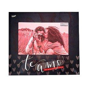Porta Retrato 10x15 Vidro- Amor Infinito/ Namorados Uatt