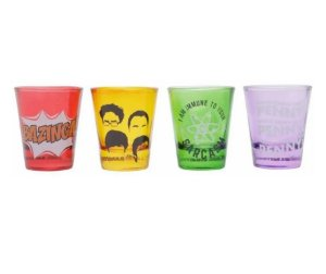 Kit 4 Copos De Shot The Big Bang Theory Original - Urban