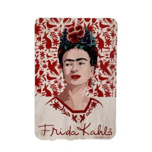 Placa Quadro Decorativo Red Birds And Flowers Frida Kahlo