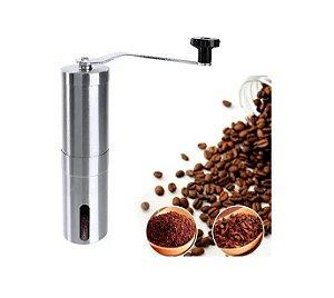 Moedor De Café Manual Em Inox Com Mecânica Em Cerâmica