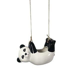 Vaso / Cachepot P/ Suculenta De Bichinho P/ Pendurar - Panda