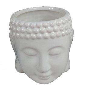 Vaso / Cachepot Buda Zen De Cerâmica Decorativo - Vasinho Branco