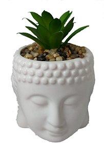 Vasinho Vaso / Cachepot Buda Zen De Cerâmica + Suculenta