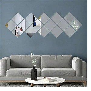 Kit 9 Espelho Autoadesivos - Quadrado 15x15cm