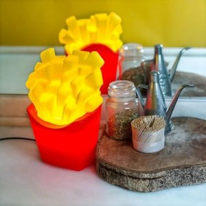 Luminária Abajur Batata Frita Usare