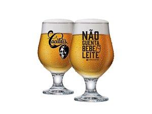 Taça De Cerveja Beer Master Cacildis Vidro 380ml - Não Guenta Bebe Leite