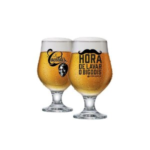 Taça De Cerveja Beer Master Cacildis Vidro 380ml - Hora De Lavar Os Bigodis