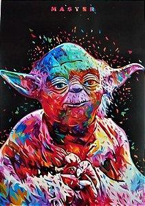 Quadro Decorativo Mestre Yoda Star Wars 28x20 Cm Colorido