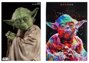 Kit 2 Quadros Decorativo Mestre Yoda Star Wars 28x20 Cm