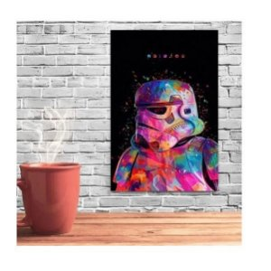 Placas Decorativa 28x20cm Mdf Soldier Star Wars