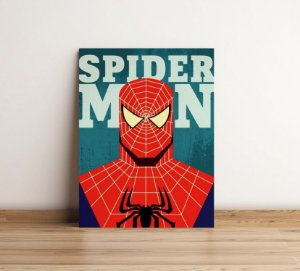 Placas Decorativa 28x20cm Mdf Spider Man Homem Aranha