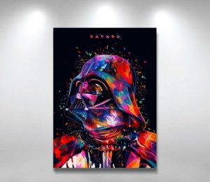 Placas Decorativa 28x20cm Mdf Darth Vader Star Wars