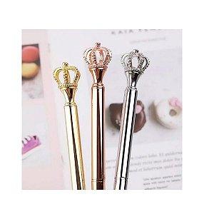 Caneta Luxo Coroa - Rosé Prata Ou Dourado