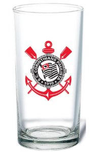 Copo De Vidro Long Drink Cerveja Chopp Corinthians 300 Ml