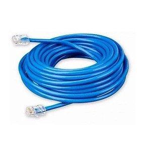 Cabo De Rede 15 Metros Lan Internet Crimpado Rj45 Azul