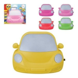 Abajur Luminaria Led Tomada Infantil Formato Carro