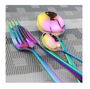 Conjunto De 4 Talheres Em Aço Inox Luxo Colorido Furtacor Mesa Posta