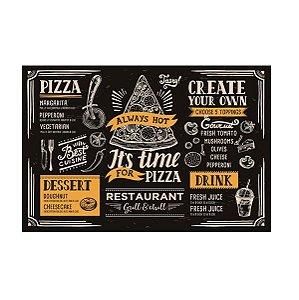 Tábua Para Pizza Em Vidro Retangular Dynasty 30x20 Cm