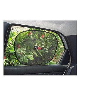 Tela Protetora Solar Com Ventosas P/ Carro Tapa Sol