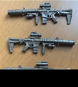 Caneta Esferográfica Arma Formato Fuzil Lembrança Guerra