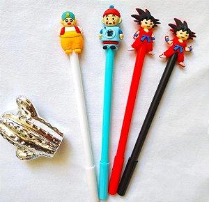 Kit 4 Caneta Em Gel Kawaii Dragon Ball Sortidas