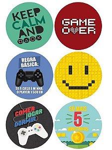 Porta Copos Games Com 6 Unidades - Jogos Gamer