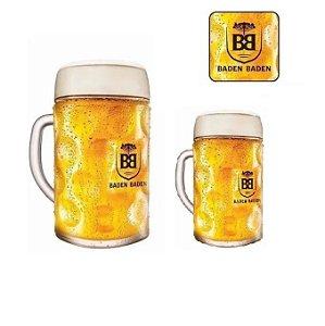 Kit 2 Canecas Baden Baden Mass 1 Litro E 500ml Cerveja Chopp