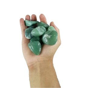 500g De Pedra Rolada De Quartzo Verde Natural Grande