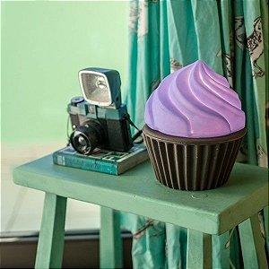 Luminaria / Abajur Bivolt - Cupcake Roxo