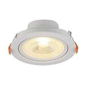 Spot Embutir Redondo LED 6W PP Bivolt Luz Amarela 80163004 Blumenau