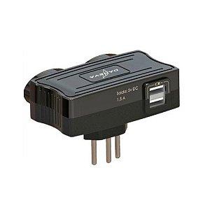 Carregador USB Mult 2 Saidas + 2 Tomadas DN1650 Daneva
