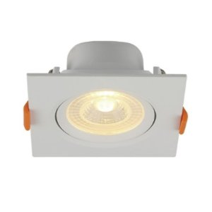 Spot Embutir Quadrado LED 6W PP Bivolt Luz Amarela 80263004 Blumenau