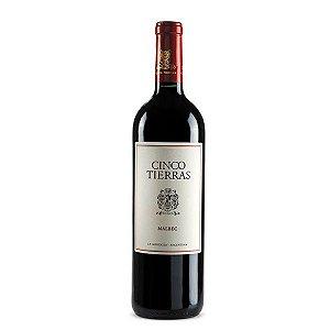 Vinho Cinco Tierras Malbec Clássico 2015 750ml Tinto Argentino