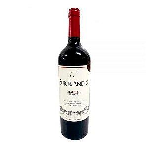 Vinho Sur De Los Andes Reserva Malbec 750ml Tinto Argentino
