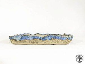 Vaso Retangular Esmaltado Sergio Onodera 25x15,5x4,3 cm