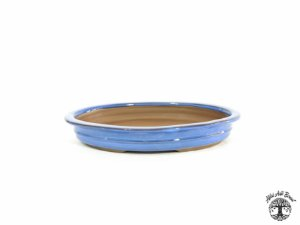 Vaso Oval Literato Azul 26x19,5x5cm