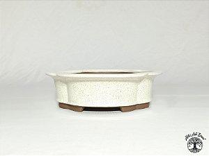 Vaso Flor Branco Literato 20x18,5x6cm