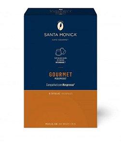 Café em cápsula Santa Monica Gourmet com 10 unidades