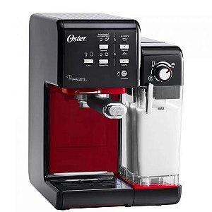 Cafeteira - Máquina de Café Expresso PrimaLatte II Oster 19 Bar Preta e Vermelha BVSTEM6701B