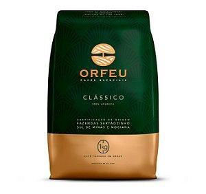 Café Expresso - Café Orfeu Clássico Torrado em Grãos 1kg - Para Padarias - Cafeterias e Casa.