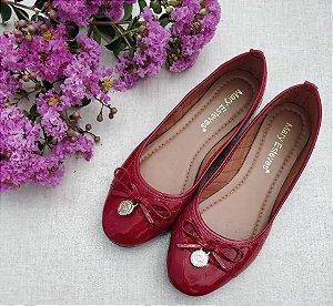 Sapatilha Bico Redondo Vermelha- Mary Esteves