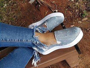 Tênis Slipper Jeans-Mary Esteves