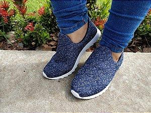 Tênis Knit Azul Marinho-Mary Esteves
