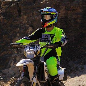 CAMISA TRILHA ENDURO MOTOCROSS INTENSE FLOUR ITALIAN BRAAP VERDE
