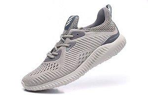 Tênis Adidas AlphaBounce EM - Masculino - Cinza Claro