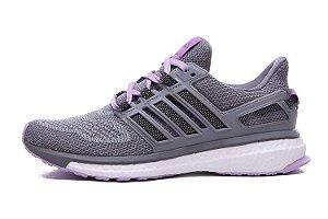 Tênis Adidas Energy Boost 3 - Feminino - Cinza/Roxo