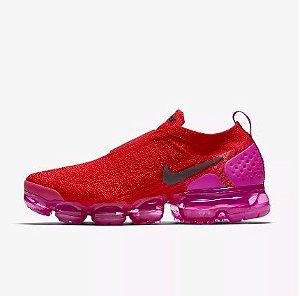 Tênis Nike Air VaporMax Flyknit MOC 2 - Feminino - Vermelho e Rosa