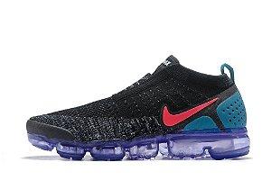 Tênis Nike Air VaporMax Flyknit MOC 2 - Masculino - Preto e Azul